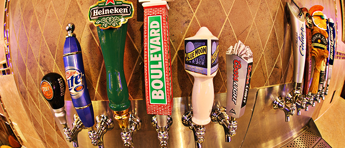 Royale Orleans has over 10 beers on tap